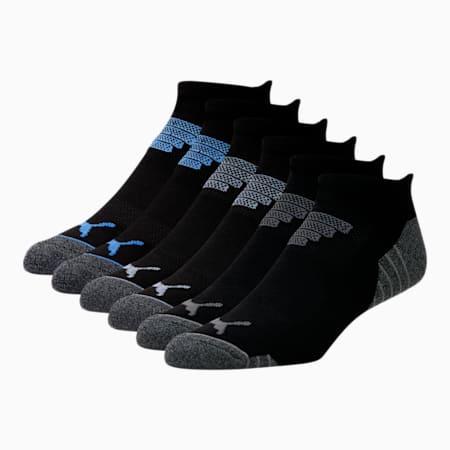 Calcetines cortos para hombre [paquete de 6], NEGRO / AZUL, pequeño